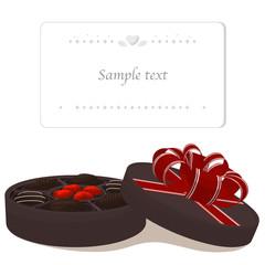 プレゼントのチョコレートとメッセージカード01