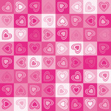 Cute heart seamless background, vector.