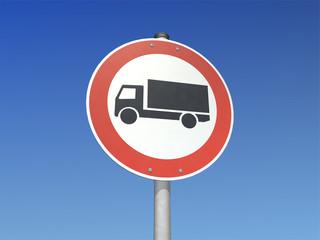 für LKW verboten