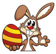 Easter Bunny with colored Egg