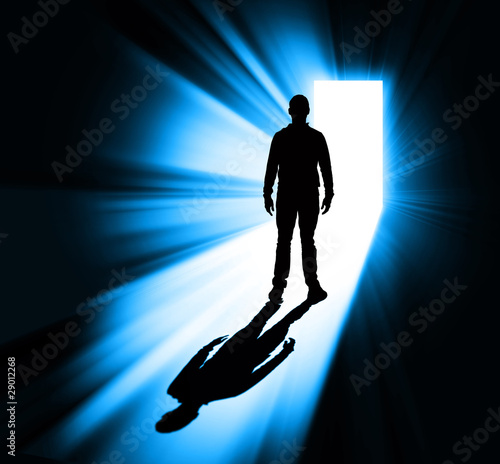 Man standing in doorway