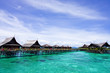 Kapalai island -  exotic tropical resort in the middle of ocean