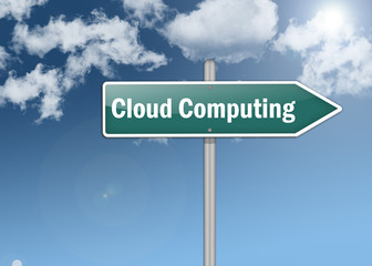 "Signpost ""Cloud Computing"""