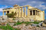 Caryatid Porch of Erechtheum at Acropolis, Athens poster