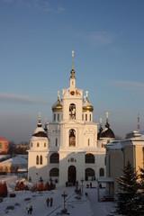 Uspenski cathedral of the Dmitrov Kremlin of Moscow region.