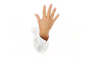 Five fingers, hand.