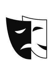 Vector theatrical masks - Tragedy and Comedy