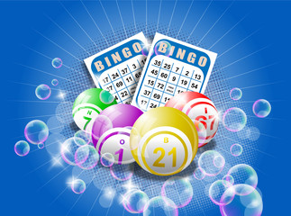 Bingo cards and balls