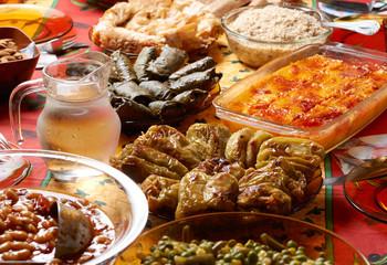 Bulgarian Christmas table setup