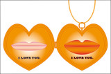 Gold Heart Shaped Locke. Add picture to this favorite keepsake. poster