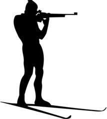 shooting biathlete