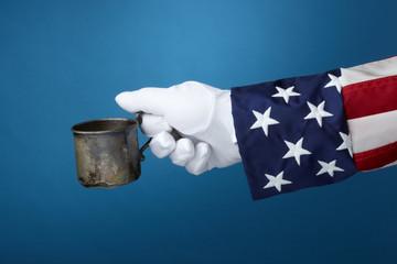 Uncle Sam goes panhandling