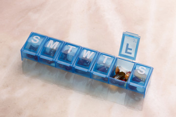 Daily Pill and capsule Organizer