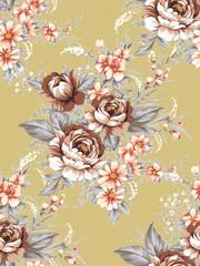 Seamless tulip background pattern.
