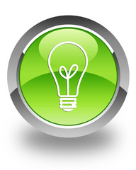 Light bulb icon on green button