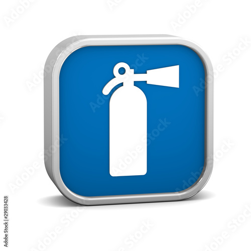 Fire extinguisher sign on a white background