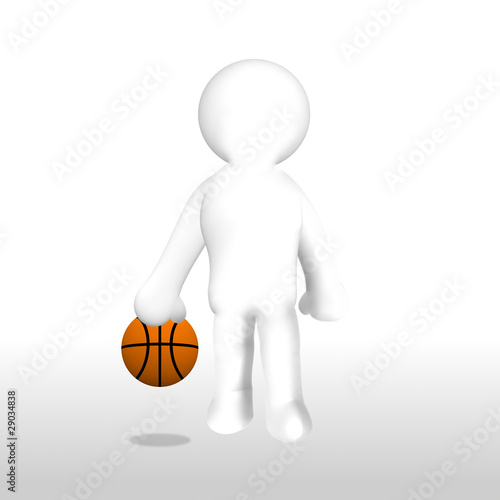 neutraler basketballspieler