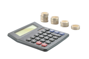 Calculator with Row of coins