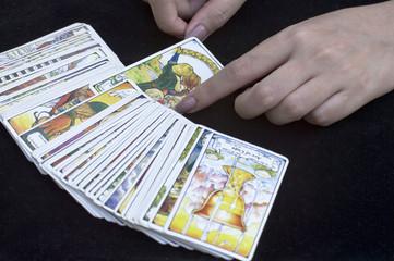 the woman fortuneteller tarot card
