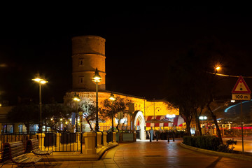 Old Sliema tower in night