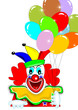 Clown mit Ballon