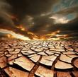 Leinwanddruck Bild - Drought land