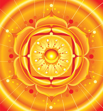 Fel oranje mandala van svadhisthana chakra vector