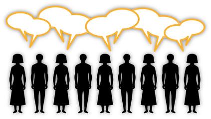Sprechende Menschen