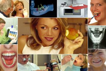 Collage - Schöne Zähne (Dental/Zahnarzt)
