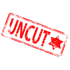 "Rubber stamp illustration showing ""UNCUT"" text"