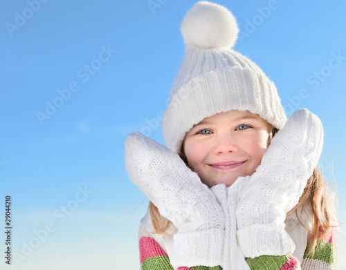 girl in winter clothes outdoors