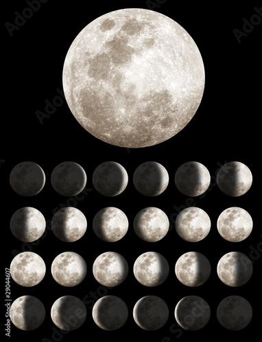 Fototapeta Lunar Phases
