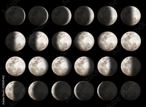 Fototapeta Moon Phases