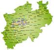 Bundesland Nordrhein-Westfalen als Übersicht