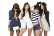 four teenage friends