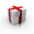 Gift box with a card
