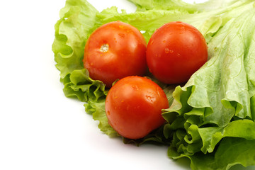 green salad ant three tomatoes