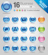 Glossy spheres - Office and Business icons 01