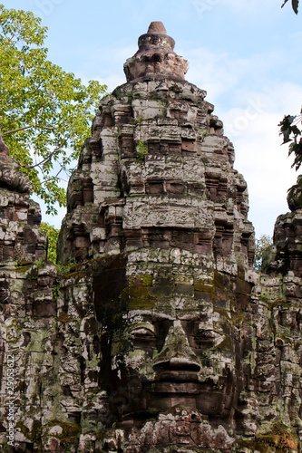 A fragment of Angkor Thom temple