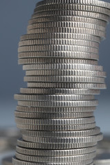 Stacks of money coins