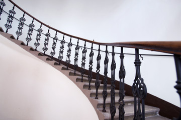 wraught-iron balustrade