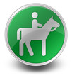 "Green Glossy Icon ""Horse Trail"""