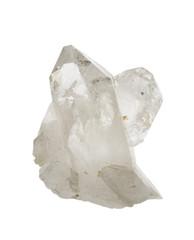 Rock crystal quartz isolated on white.