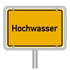 Hochwasse Schild
