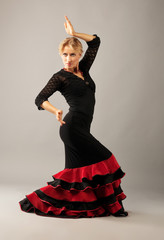 Beauty woman dance flamenco