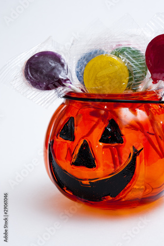 Jack-o-lantern with lollipops