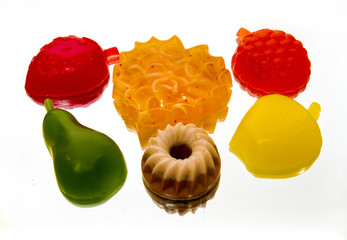 Soap in the form of cake, berries and fruits