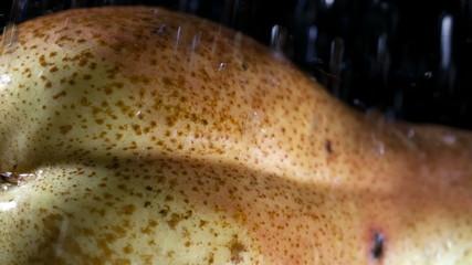 sensual pear in the rain