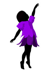 Fairy Girl Silhouette Illustration