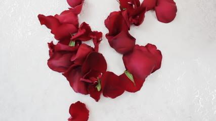 Rose petals make one big heart